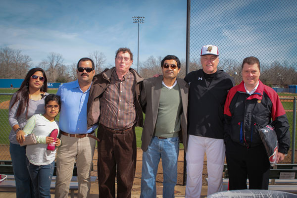 Dr. Bhatia Poses with UHV Baseball